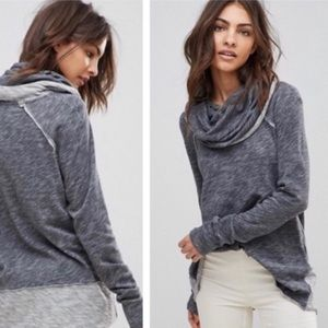 Gray Freepeople FP Beach Pullover